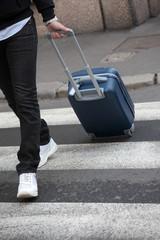 Uomo d'affari che viaggia