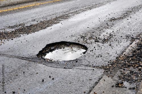 canvas print picture road damage