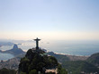 Aerial view of Rio De Janeiro with Christ the Redeemer Monument