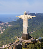 Aerial view of Christ the Redeemer Monument and Rio De Janeiro