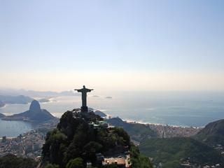 Widok na Rio De Janeiro, pomnik Chrystusa Zbawiciela