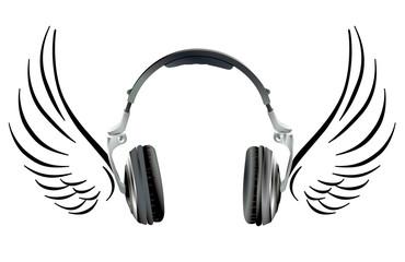 Kopfhörer mit Flügel