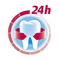 Zahn, Zahnschutz und Zahnpflege 24 Stunden
