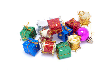 Small Christmas ornaments for a toy tree