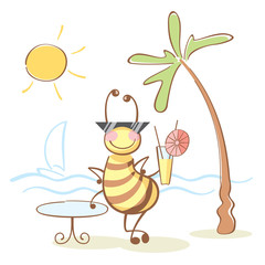bee on the rest