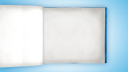 Fast flipping blank pages in modern book