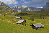 Fototapety Berghütten im Grödnertal