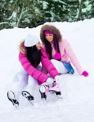 girls going to ice skating