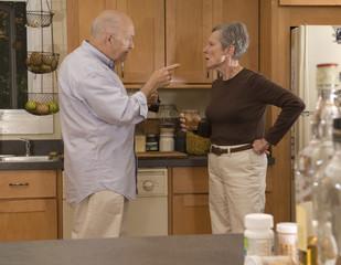 Addiction - senior couple fighting