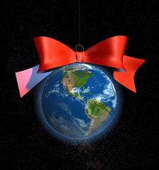 christmas bauble decoration earth america usa