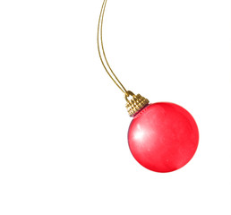 Christmas bauble in motion
