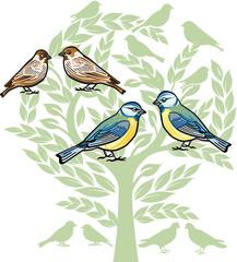 Vogel- Hochzeit