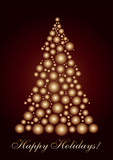 Circle Christmas tree gold