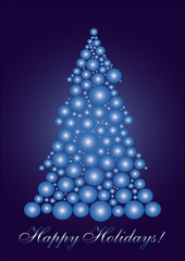 Blue cercle Christmas tree