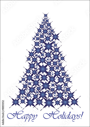 Christmas tree- blue stars