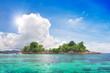 island in beautiful tropical sea