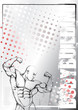 bodybuilding pencil sketching background 2