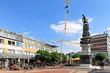 Leinwanddruck Bild - Das Monument zur Stadtgeschichte in Salzgitter