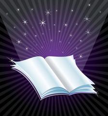 magic book opened vector