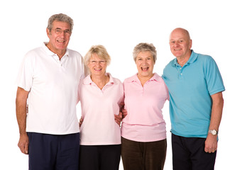 Group of mature exercise friends