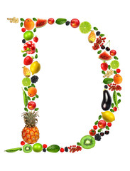 "Fruit and vegetables lettre ""D"""