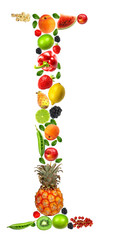 """Fruit and vegetables lettre """"I"""""""