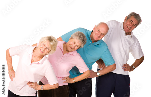 Foto op Plexiglas Fitness Group of mature people stretching