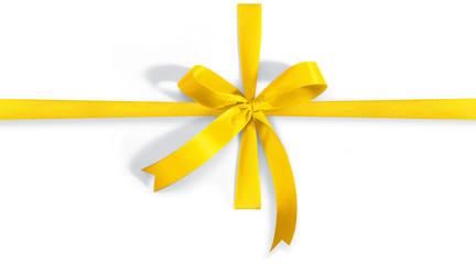 Geschenkschleife gelb