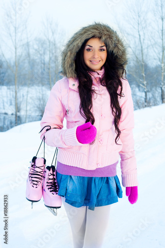 girl going ice skating