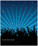 Fototapety Party cheering audience vector background