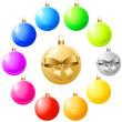 Weihnachtsbaumkugeln bunt