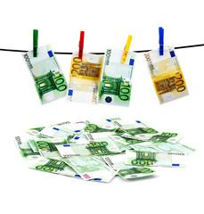 Banknotes drying