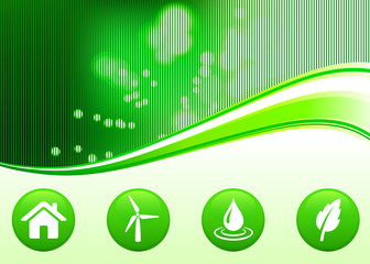 green nature environmental background with internet buttons