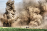 HDR.Explosion. WW2 reenacting
