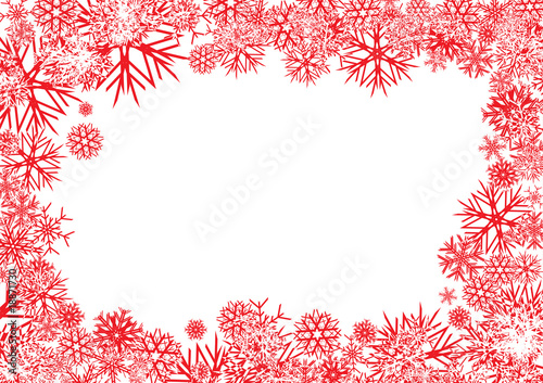 Red Snowflakes Background