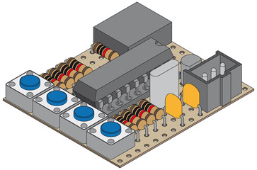 microcontroller project with electronic parts