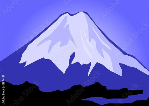 Illustration of the cliffs of mount Everest