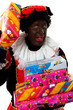 Zwarte Piet ( black pete) typical dutch character with presents