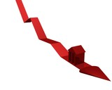 bourse en baisse poster