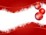 Fototapety Sfondo natalizio con decorazioni, orizzontale