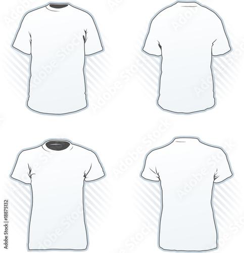 T-shirt design template set