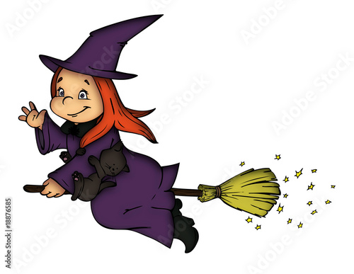 Illustration hexe witch halloween karneval fasching verkleidung