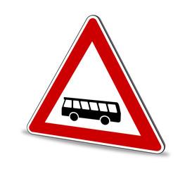 Kraftomnibusse Schild 3D