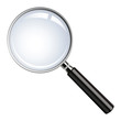 Realistic vector magnifying glass - 18879790