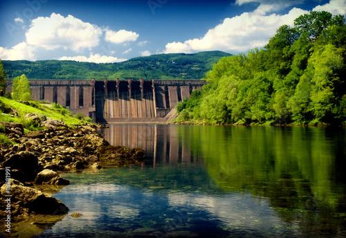 Leinwanddruck Bild hydroelectric power station