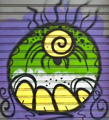 graffiti on the wall blu