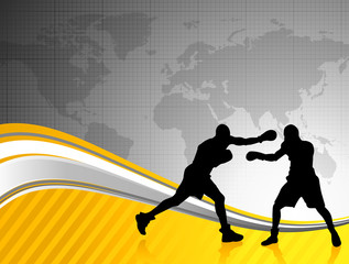boxing world championship background