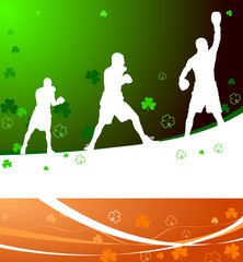 boxing on st. patricks day background