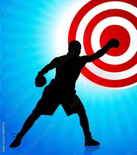 boxing background with bullseye target