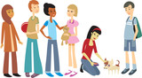 Multiracial group of children poster
